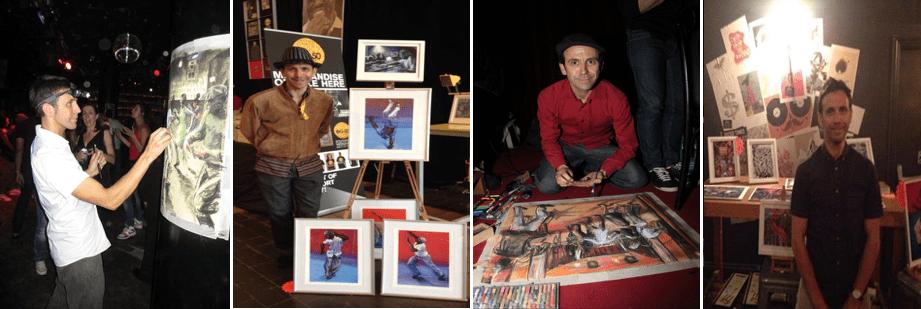 Oscar Romp with his art