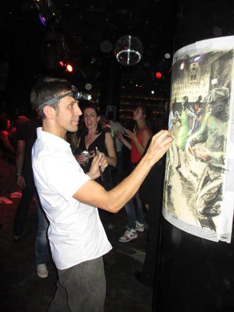 Oscar Romp Drawing in Club